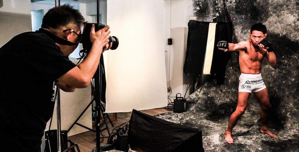 プロ格闘家風スタジオ写真撮影(オプションコース)