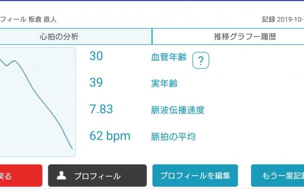 血管年齢測定器を導入しました
