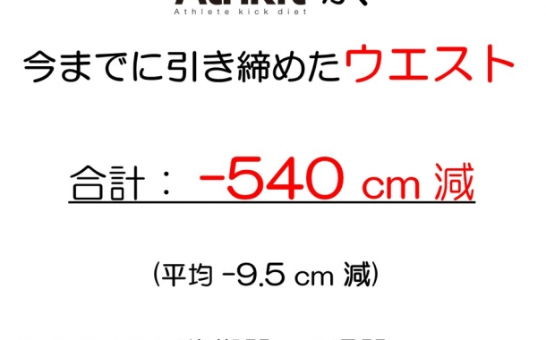 今までに-540cmのウエストを細くしました